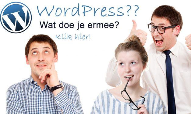 Filmpje! Wat is WordPress eigenlijk?