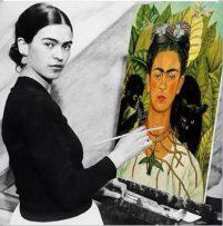Foto van Frida Kahlo, naar wie ik mijn bedrijf heb vernoemd